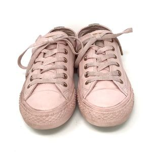Converse 158416C CT All Star Lo Lux Pink Leather Sneakers Shoes Men's 5 Womens 7 | eBay